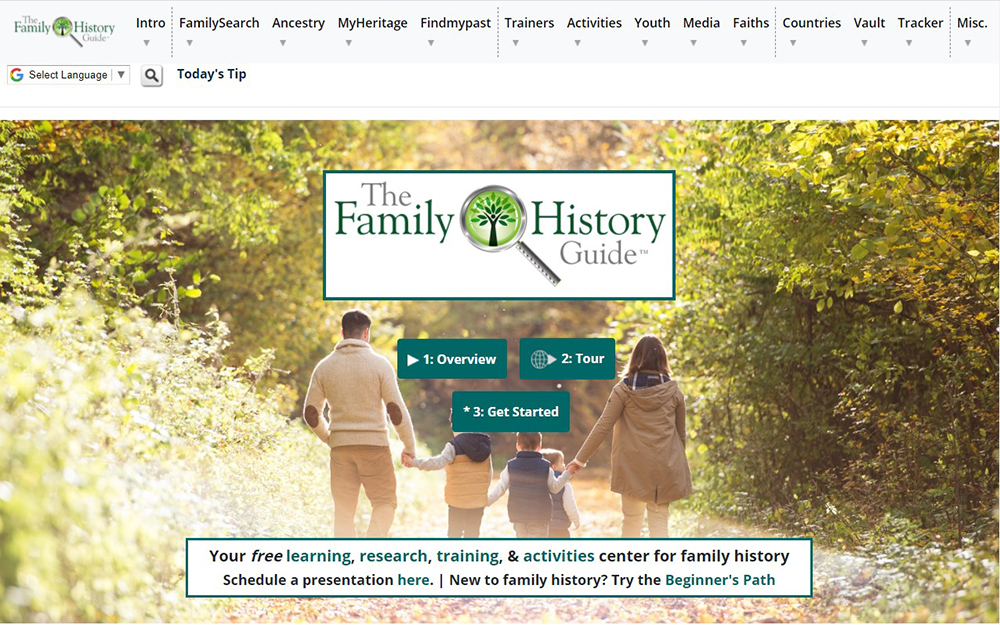 The Family History Guide website